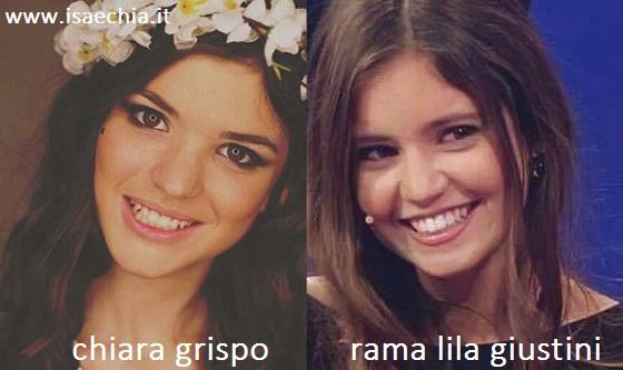 Somiglianza tra Chiara Grispo e Rama Lila Giustini
