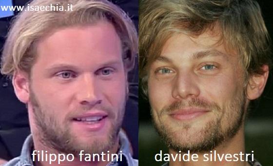 Somiglianza tra Filippo Fantini e Davide Silvestri