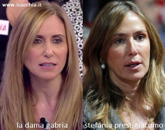 Somiglianza tra Gabria e Stefania Prestigiacomo