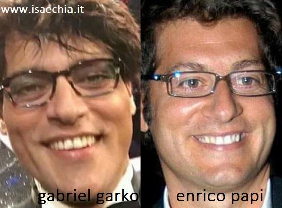 Somiglianza tra Gabriel Garko ed Enrico Papi