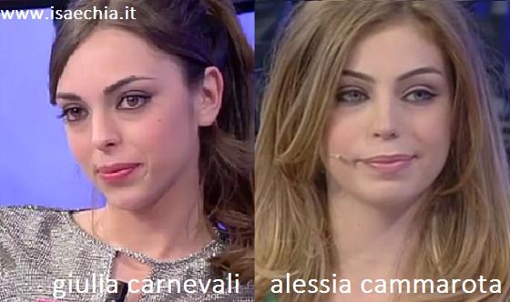 Somiglianza tra Giulia Carnevali e Alessia Cammarota