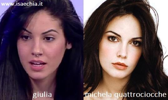 Somiglianza tra Giulia e Michela Quattrociocche