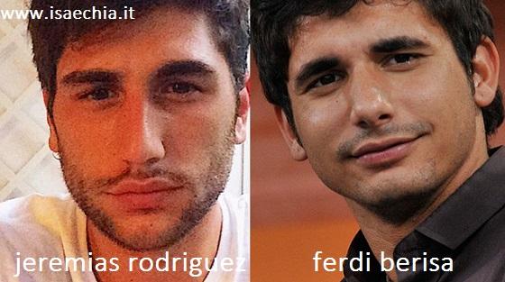 Somiglianza tra Jeremias Rodriguez e Ferdi Berisa
