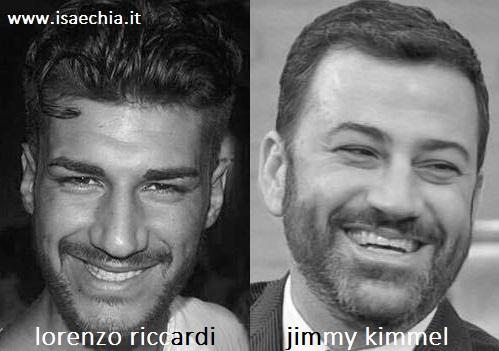 Somiglianza tra Lorenzo Riccardi e Jimmy Kimmel