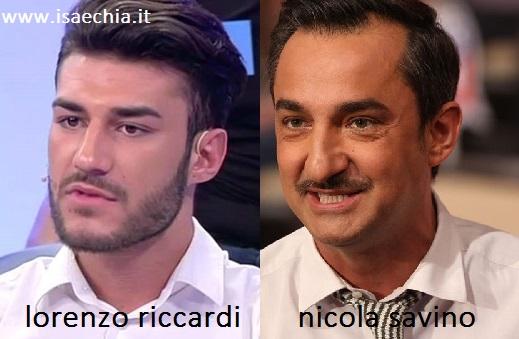 Somiglianza tra Lorenzo Riccardi e Nicola Savino