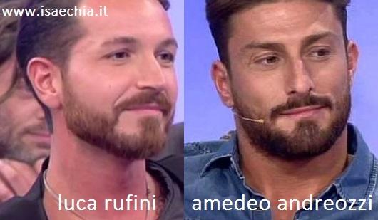 Somiglianza tra Luca Rufini e Amedeo Andreozzi