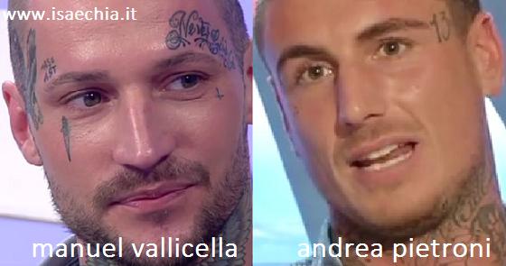 Somiglianza tra Manuel Vallicella e Andrea Pietroni