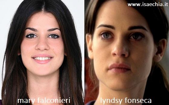 Somiglianza tra Mary Falconieri e Lyndsy Fonseca