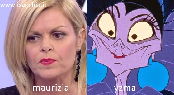 Somiglianza tra Maurizia e Yzma