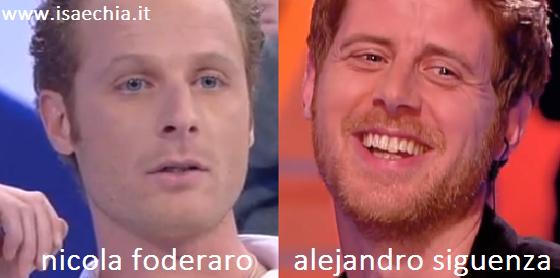 Somiglianza tra Nicola Foderaro e Alejandro Siguenza