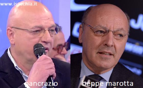 Somiglianza tra Pancrazio e Beppe Marotta