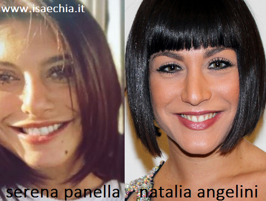 Somiglianza tra Serena Panella e Natalia Angelini