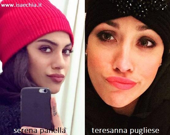 Somiglianza tra Serena Panella e Teresanna Pugliese