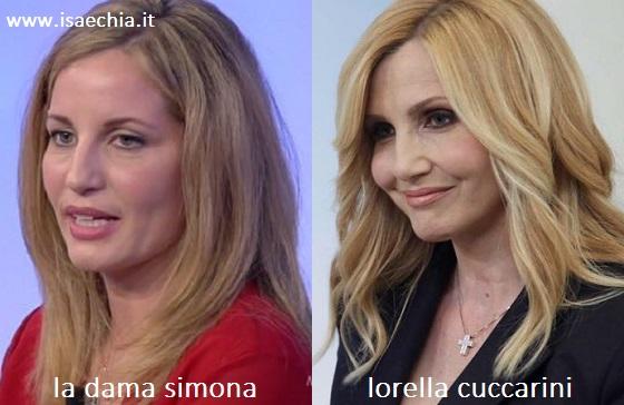 Somiglianza tra Simona e Lorella Cuccarini