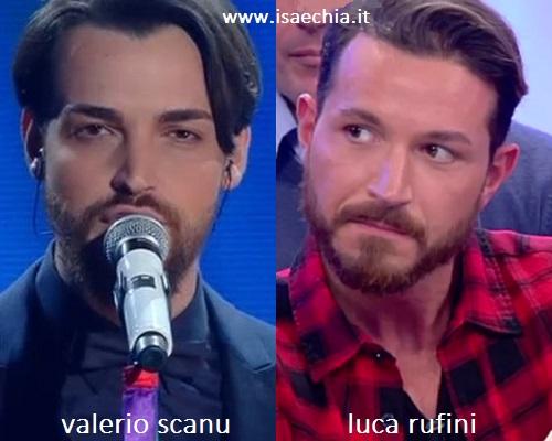 Somiglianza tra Valerio Scanu e Luca Rufini