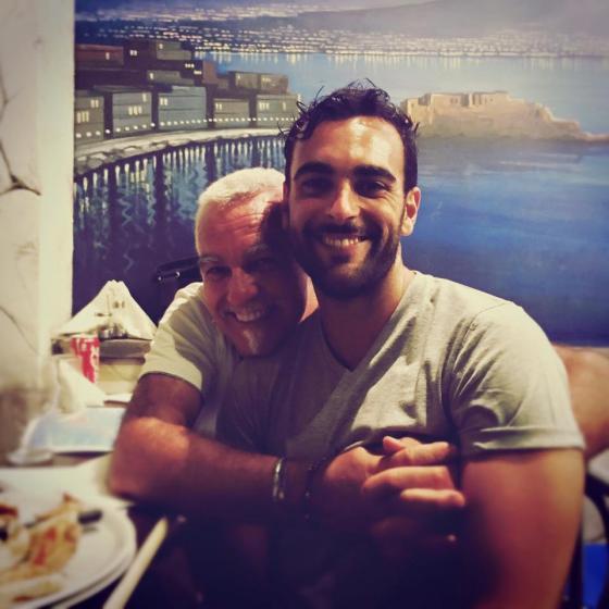 Marco Mengoni con il papà