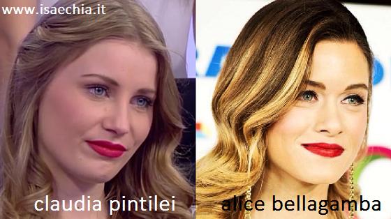 Somiglianza tra Claudia Pintilei e Alice Bellagamba