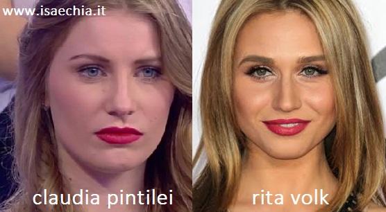 Somiglianza tra Claudia Pintilei e Rita Volk