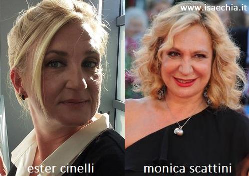 Somiglianza tra Ester Cinelli e Monica Scattini