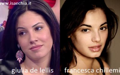 Somiglianza tra Giulia De Lellis e Francesca Chillemi