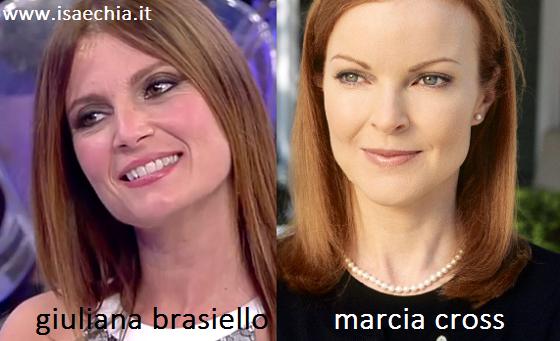 Somiglianza tra Giuliana Brasiello e Marcia Cross