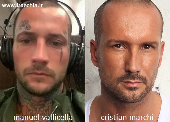 Somiglianza tra Manuel Vallicella e Cristian Marchi