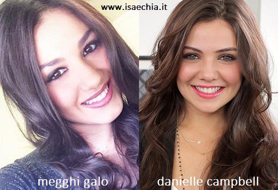 Somiglianza tra Megghi Galo e Danielle Campbell