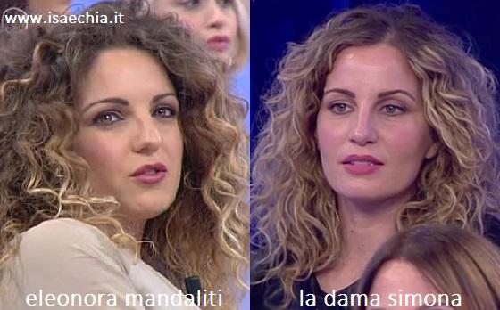 Somiglianza tra Simona ed Eleonora Mandaliti