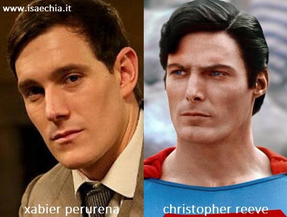 Somiglianza tra Xabier Perurena e Christopher Reeve