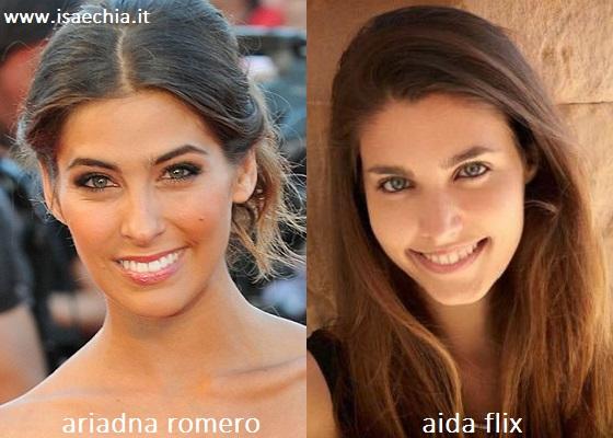 Somiglianza tra Ariadna Romero e Aida Flix