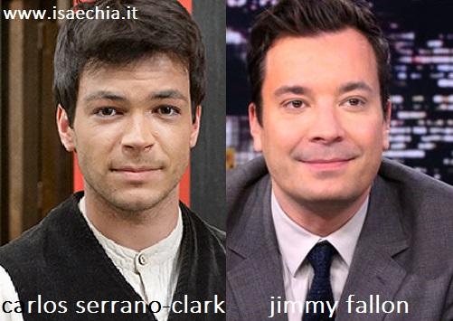 Somiglianza tra Carlos Serrano-Clark e Jimmy Fallon