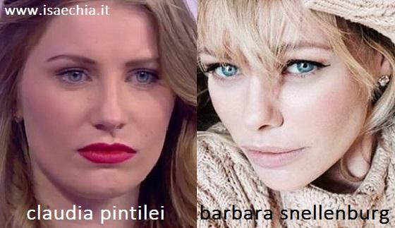 Somiglianza tra Claudia Pintilei e Barbara Snellenburg