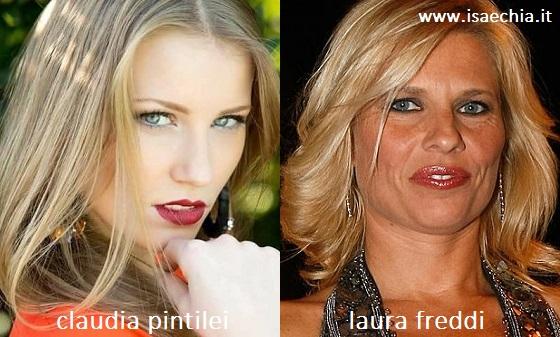 Somiglianza tra Claudia Pintilei e Laura Freddi