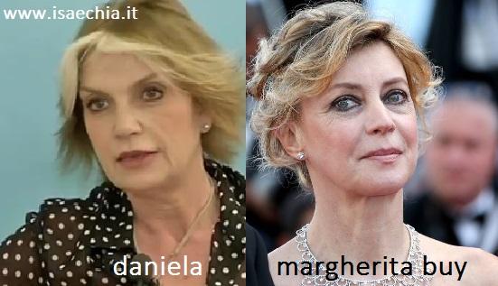 Somiglianza tra Daniela e Margherita Buy