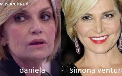 Somiglianza tra Daniela e Simona Ventura