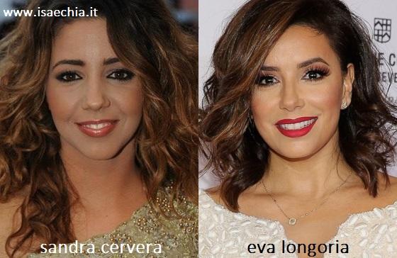 Somiglianza tra Eva Longoria e Sandra Cervera