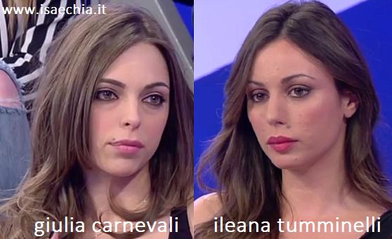 Somiglianza tra Giulia Carnevali e Ileana Tumminelli
