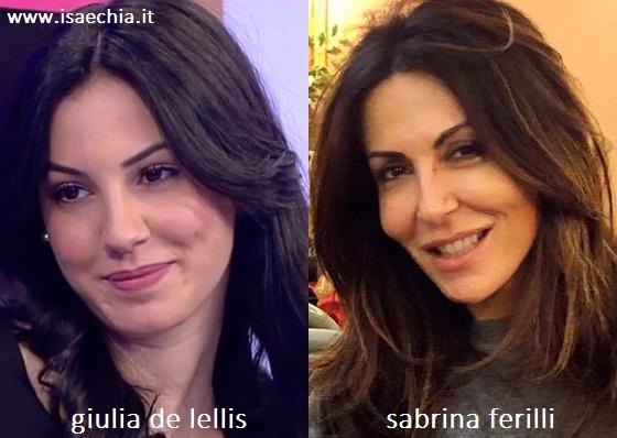 Somiglianza tra Giulia De Lellis e Sabrina Ferilli