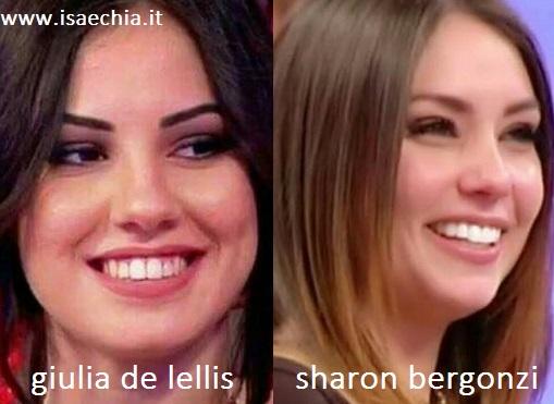 Somiglianza tra Giulia De Lellis e Sharon Bergonzi
