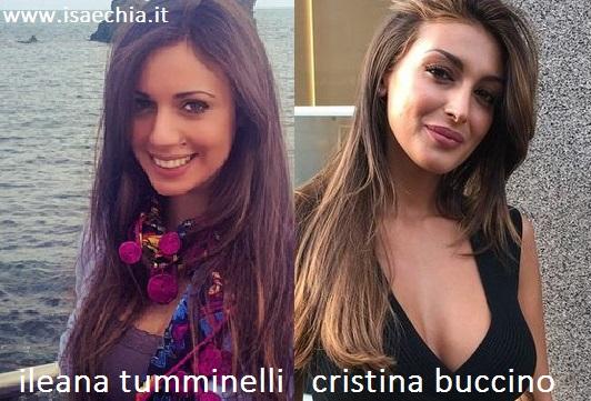 Somiglianza tra Ileana Tumminelli e Cristina Buccino