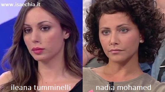 Somiglianza tra Ileana Tumminelli e Nadia Mohamed