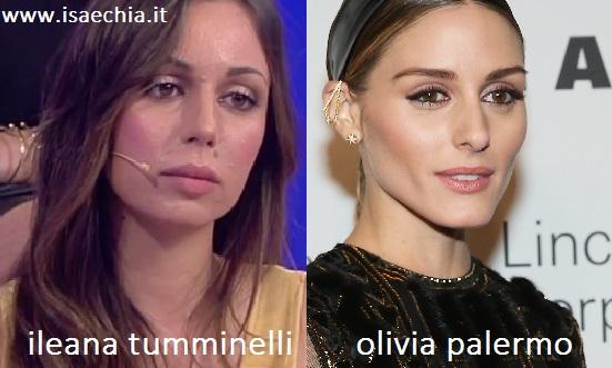 Somiglianza tra Ileana Tumminelli e Olivia Palermo