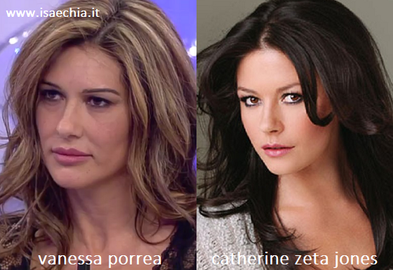 Somiglianza tra Vanessa Porrea e Catherine Zeta Jones