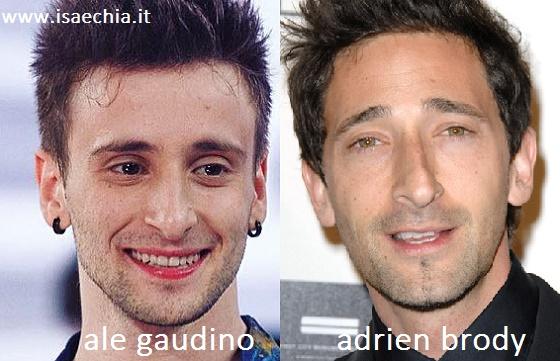Somiglianza tra Ale Gaudino e Adrien Brody