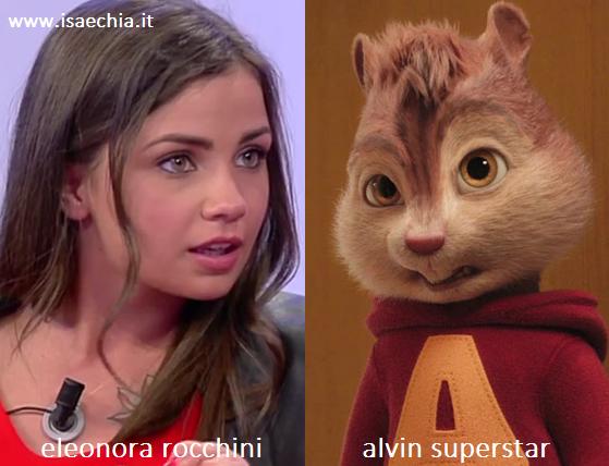 Somiglianza tra Eleonora Rocchini e Alvin Superstar