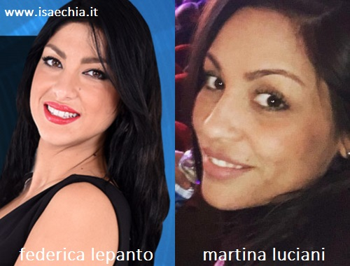 Somiglianza tra Federica Lepanto e Martina Luciani