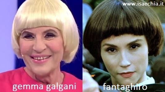 Somiglianza tra Gemma Galgani e Fantaghirò
