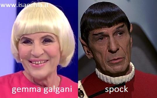 Somiglianza tra Gemma Galgani e Spock