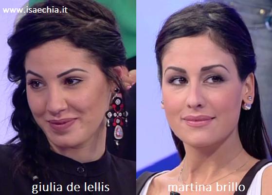 Somiglianza tra Giulia De Lellis e Martina Brillo