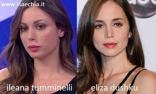 Somiglianza tra Ileana Tumminelli e Eliza Dushku